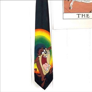 Looney Tunes Vintage Taz Rainbow Tie 1996